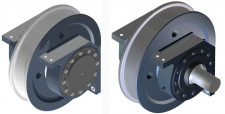 Driven & idle wheels with corner block housings