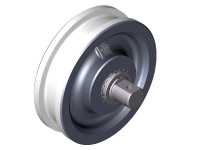 Wheel bearings with double rims